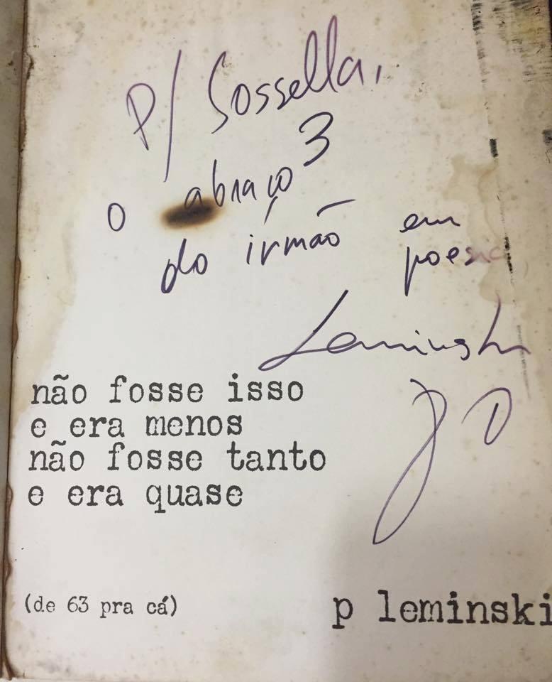 3 - Ilustres desconhecidos da poesia brasileira: Sérgio Rubens Sossélla