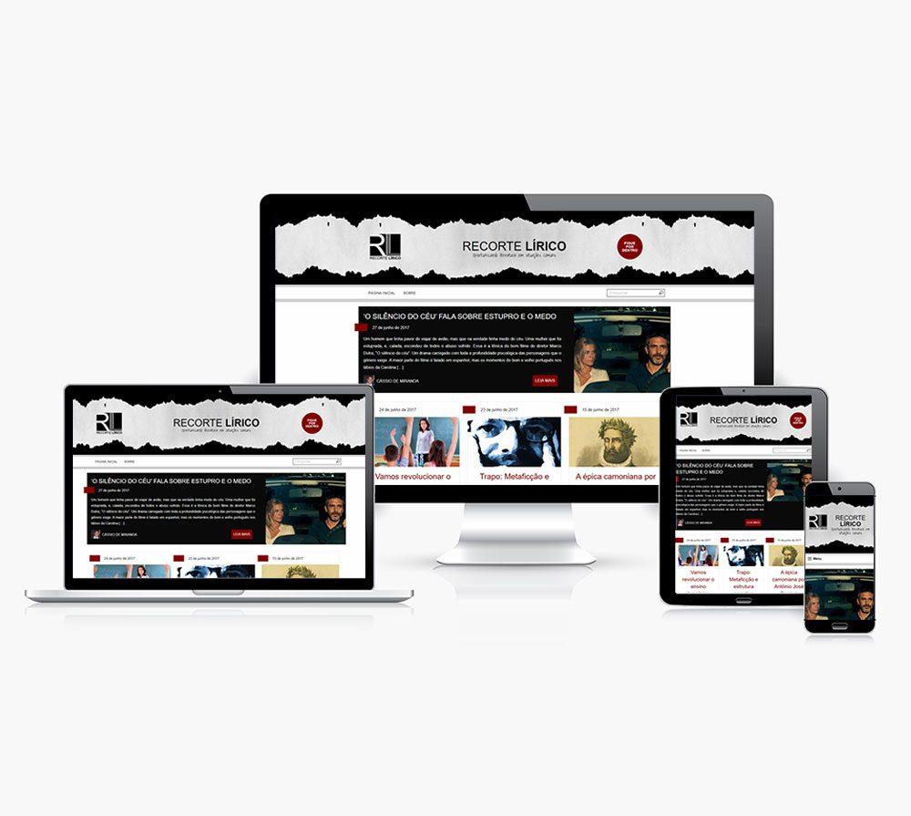 """Site Recorte Lírico faz aniversário de um ano e comemora """"de roupa nova"""""""