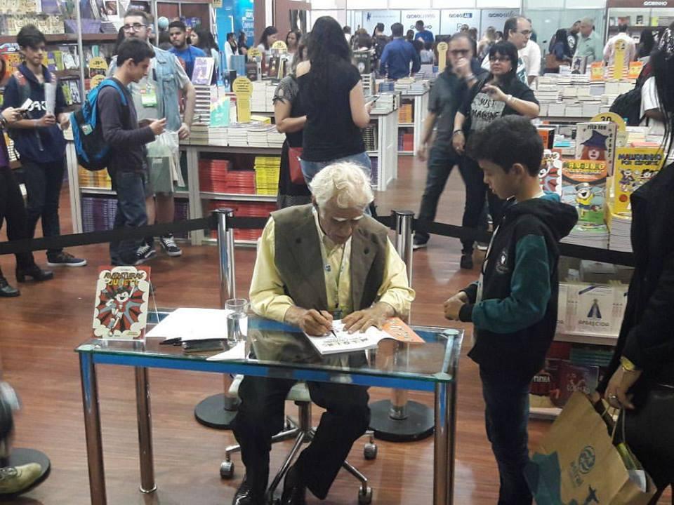 Ziraldo diz na Bienal que livros infantis ainda são vistos como 'literatura menor'