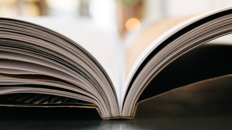 bokeh photography of open book
