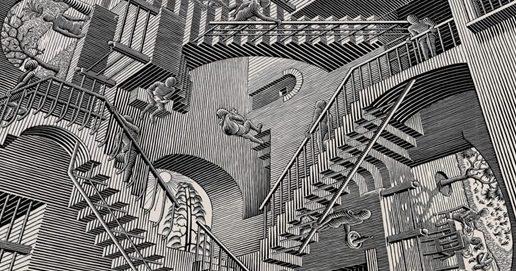 Sobre Escher, palmeiras e pinheiros