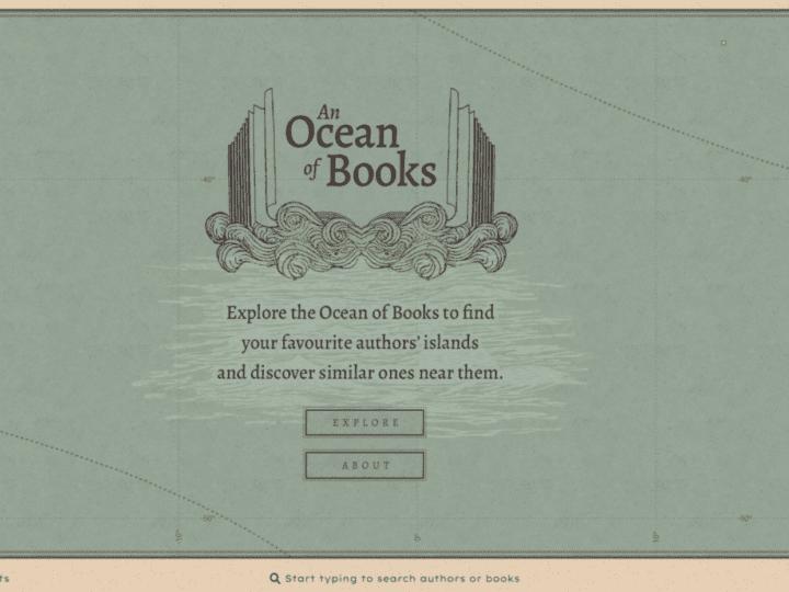 """Conheça o site """"An Ocean of Books"""" e explore as ilhas dos seus autores favoritos!"""
