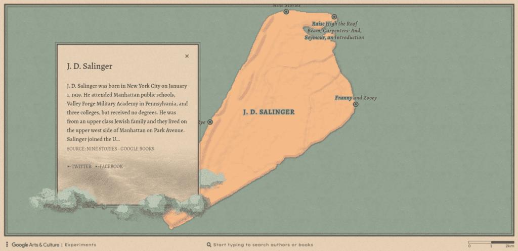 """ocean of books 4 1024x498 - Conheça o site """"An Ocean of Books"""" e explore as ilhas dos seus autores favoritos!"""
